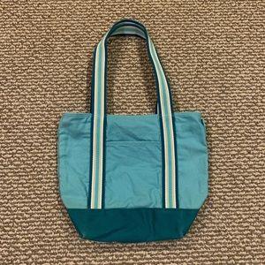 Aero teal mini tote bag